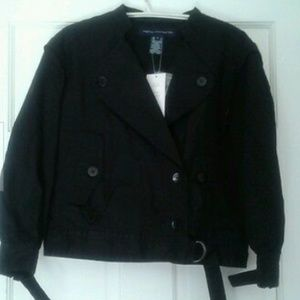 FRENCH CONNECTION COTTON 3/4 SLEEVE WAIST JACKET